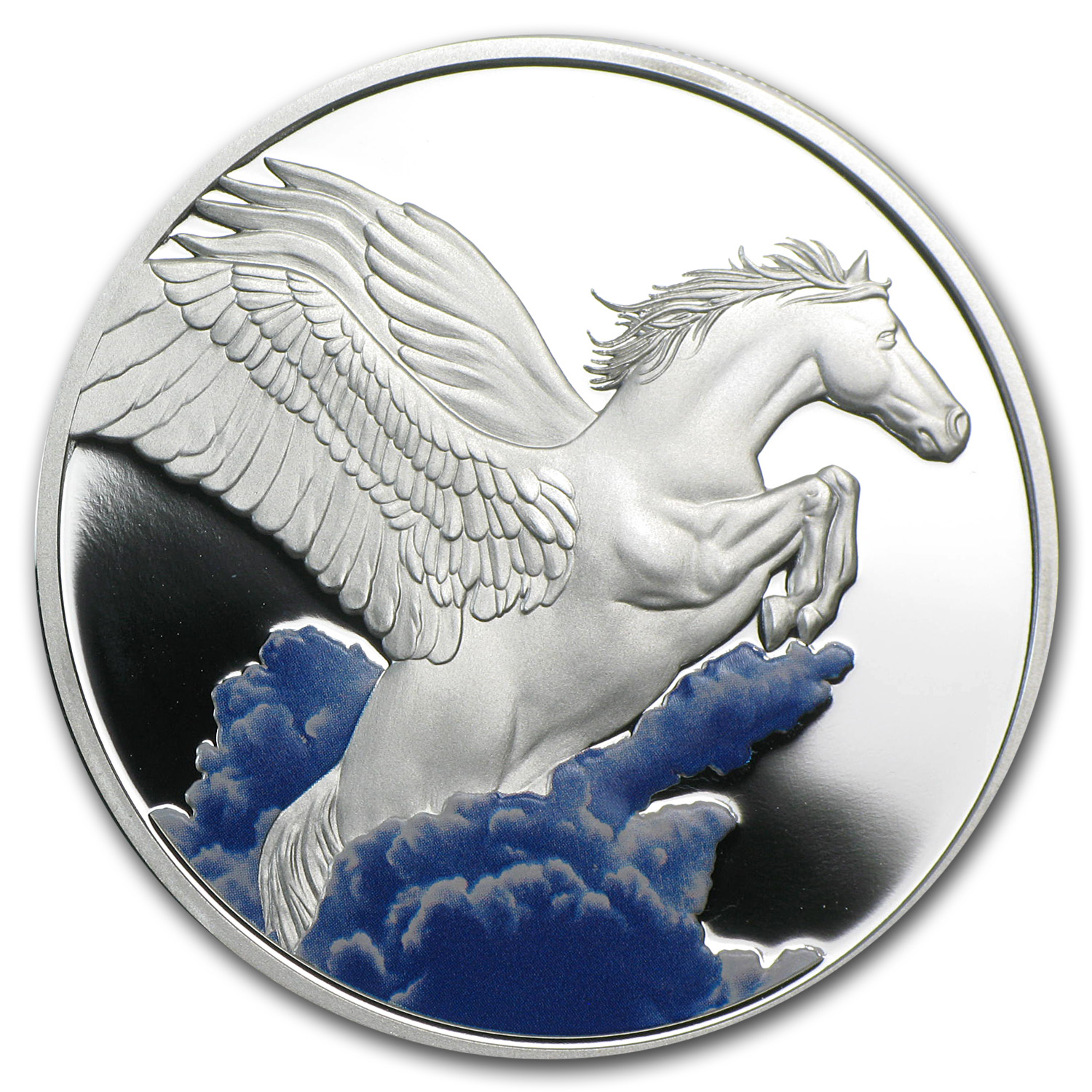2014 Tokelau 1 oz Silver $5 Pegasus Proof (w/Color)